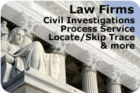 Law Firm Private Investigative Services